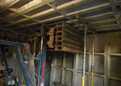 afstempelen en opvangen betonplaat